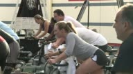 People Taking Spin Class at National Institute For Fitness And Sport on October 06 2013 in Indianapolis Indiana