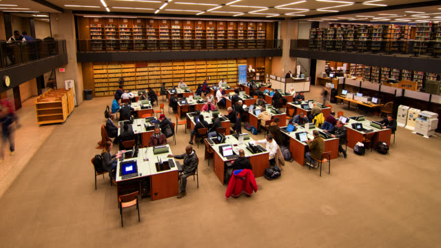 T/L HA People using computers in the Boston Public Library  / Boston