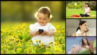 HD MONTAGE: People Using Mobile Phones