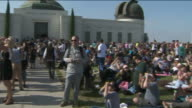 KTLA People Viewing Eclipse at Griffith Observatory