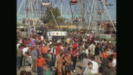 WS People visit amusement park at the State Fair of Texas / United States