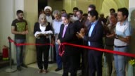 People visit the art exhibition titled 'Martyrs In Our Hearts' at the Martyrs Monument in Baghdad Iraq on September 28 2016 Footage by Murtaza Sudani...