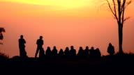 people wait sunrise