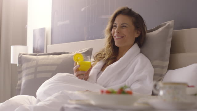 People Waking up - Breakfast in Bed