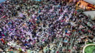 people walk in shopping Mall,tilt shift time lapse