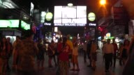 People walk on Bangla Road in Patong on Phuket Island in southern Thailand Bangla Road is the center of the nightlife in Patong with many gogo bars...