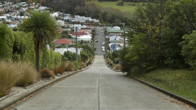 People walk on steep street