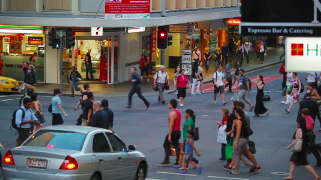 People Walking Brisbane CBD