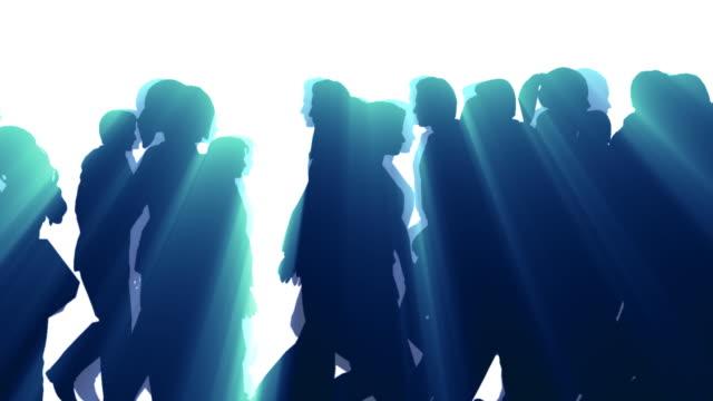 People Walking By - Silhouette