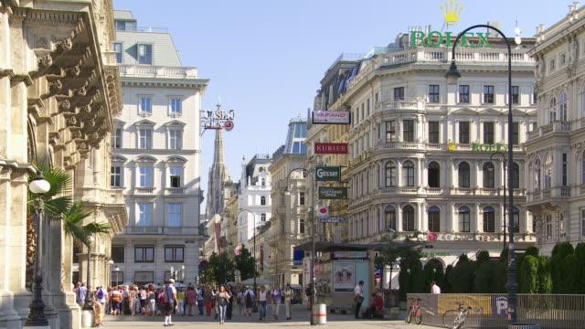 People Walking in Kaerntner Strasse (Carinthian Street) in Vienna