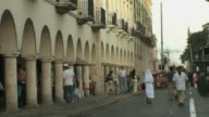 WS People walking in old town / Merida, Yucatan, Mexico