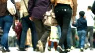 T/L People Walking In Shopping Street (4K/UHD to HD)