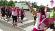 WGN People Walking In The Avon Walk For Breast Cancer on June 02 2013 in Chicago Illinois