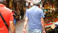 HD: People walking in the bazaar