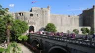 People walking in the Ploce gate, Dubrovnik
