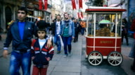 People walking in the streets of Istanbul