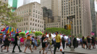 People walking on ave, Manhattan, New York