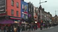 WS People walking on Junction of Camden High Street / London, Greater London, UK