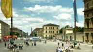 T/L People Walking On Odeonsplatz In Munich (4K/UHD to HD)