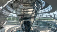 People walking on staircase in Reichstag Dome ,Timelapse, tourism