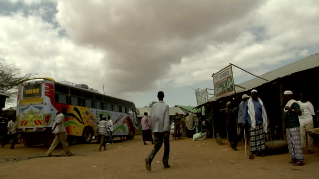 People walking on the street on August 01 2011 in Dadaab village Kenya