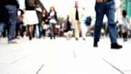 People Walking Through the City DEFOCUSED
