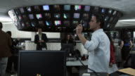 MS DS People working in control room, Dallas, Texas, USA