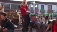 People Worshiping in the Jokhang Temple, Lhasa, Tibet