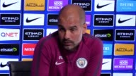 Pep Guardiola on Jonny Evans Vincent Kompany Sergio Aguero Raheem Sterling and Jadon Sancho Embargoed until 2230 on 08/08/17