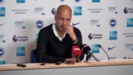 Pep Guardiola played down Manchester City's favourites' tag after his side defeated Brighton as their Premier League rivals faltered elsewhere...