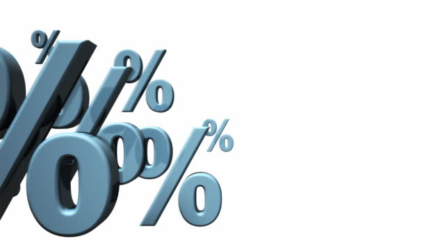 CGI Percent signs against white background