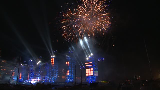 Performance Jean Michel Jarre and fireworks at the Monaco Royal Wedding Jean Michel Jarre Concert at Monaco