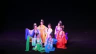 Performers on stage during the Huangmei Opera 'Tian Xian Pei' at Star Theater on October 22 2014 in Beijing China Tian Xian Pei is a classic love...
