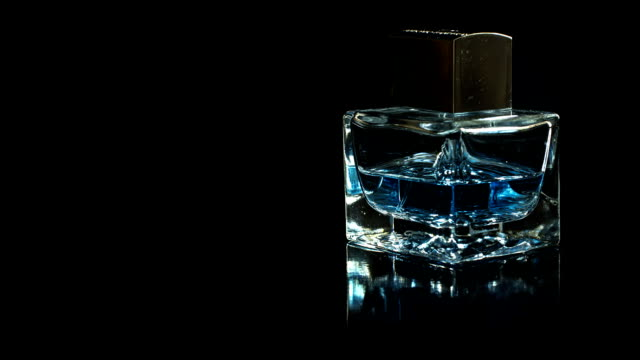Perfume bottle rotate