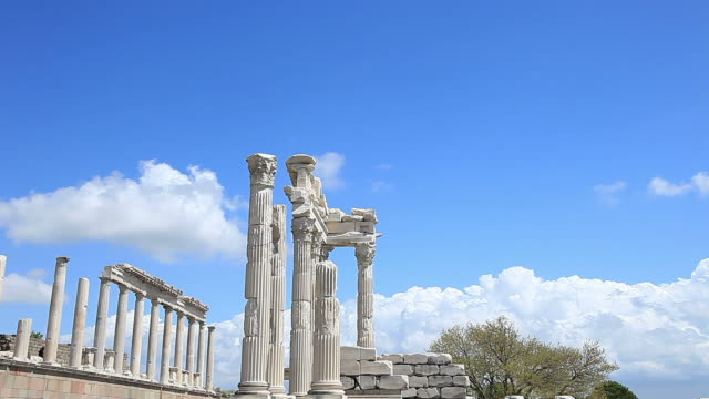 "HD: Pergamum-Turkey ""Temple of Trajan"""