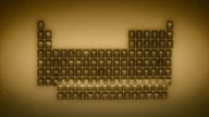 Periodensystem der Elemente der Elemente - 4 k Loop Gold-version