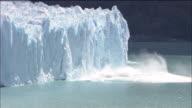 Perito Moreno Glacier calves into sea, Lago Argentino, Patagonia