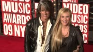 Perry of Aerosmith and his wife Billie Perry at the 2009 MTV Video Music Awards at New York NY