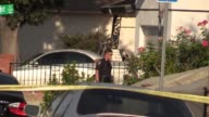 A person was shot at 61st and Alderly Streets in the Encanto neighborhood of San Diego various scenes Broll of hospital car with gunshot hole in it