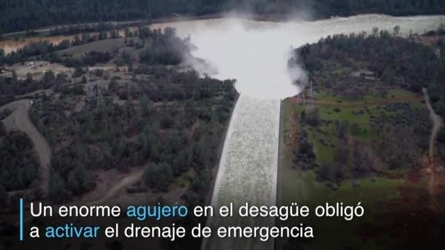 188000 personas permanecian evacuadas en Oroville California luego de una falla en la represa mas alta de Estados Unidos