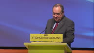 Perth Nicola Sturgeon is a new SNP leader Showing interior shots Alex Salmond MSP Nicola Sturgeon new SNP leader on conference stage November 14 2014...