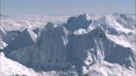 Peru Andes Looking down at Chacraraju.