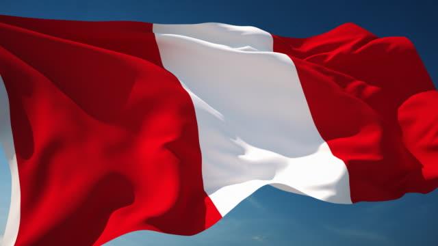 Peru Flag - Loopable