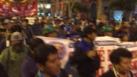 Peruvian labor stage a demonstration against the judgment of the Supreme Court that allows companies can reduce remunerations of workers unilaterally...