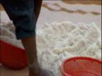Peruvians panning salt Inca salt pans Peru