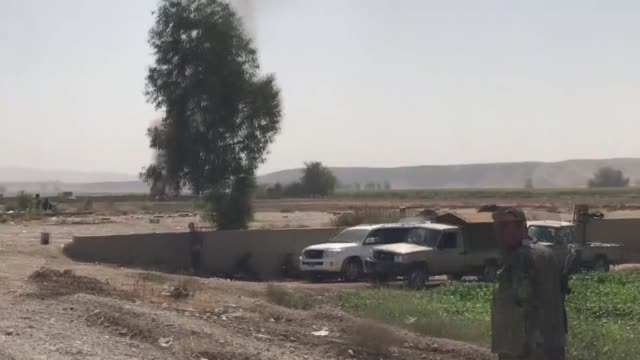 Peshmerga forces clash with Iraqi forces in Kirkuk's northern Altunkopru subdistrict on October 20 2017 Iraqi Army Captain Jabbar Hasan told Anadolu...