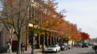 Petaluma California downtown at Petaluma Blvd and Western Ave with traffic and cars