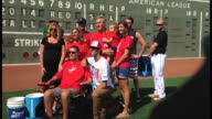 Pete Frates completed the challenge himself Thursday with help of the Red Sox