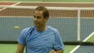 Pete Sampras and Anna Kournikova at the Advanta Presents WTT Smash Hits Celebrity Tennis Tournament at Bren Center University of Irvine in Irvine...