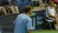 Pete Sampras Andy Roddick Anna Kournikova and Sir Elton John at the Advanta Presents WTT Smash Hits Celebrity Tennis Tournament at Bren Center...
